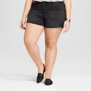 Universal Thread Black High Rise Cut Jeans 16W